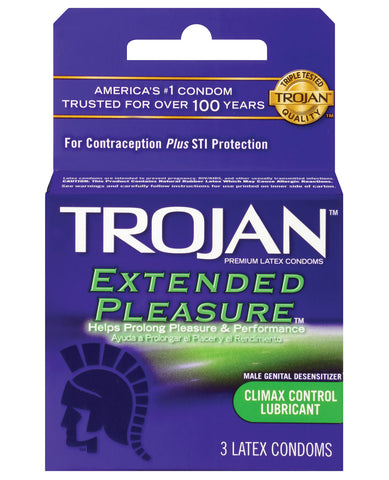 Trojan Extended Pleasure Condom - Box of 3