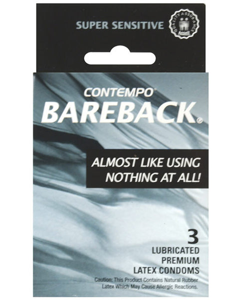 Contempo Bareback Condom - Box of 3