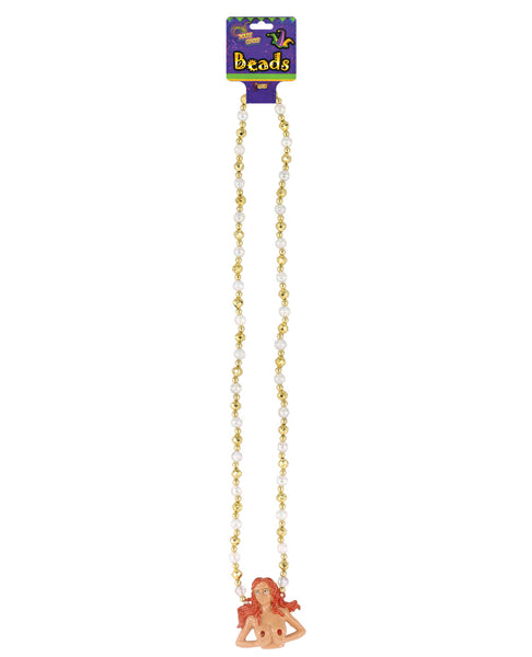 Mardi Gras Light Up Boobs Beaded Necklace