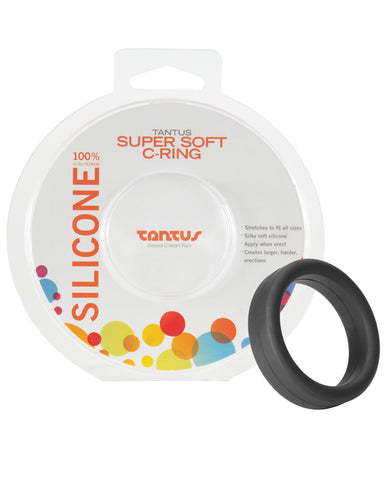"Tantus 1.5"" Supersoft C Ring - Black"