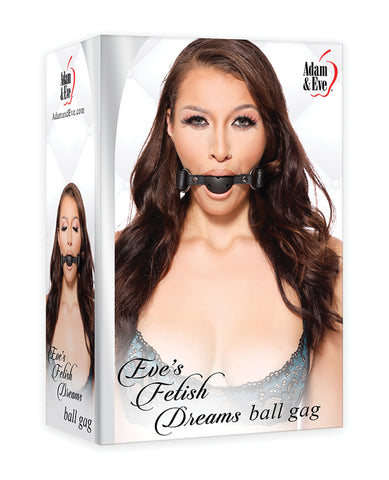 Adam & Eve's Fetish Dreams Ball Gag - Black