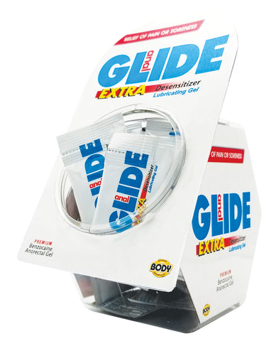Anal Glide Extra Sample Packet Display - Display of 50