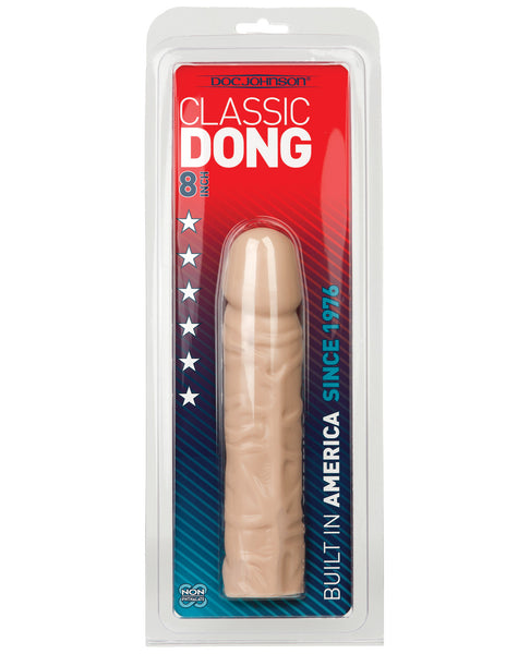 "8"" Classic Dong - White, Dongs & Dildos,- www.gspotzone.com"