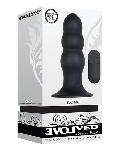Evolved Kong Rechargeable Anal Plug - Black