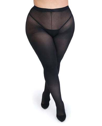 Fifty Shades of Grey Captivate Spanking Tights - Black One Size Curve