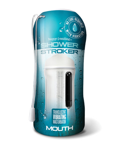 Shower Stroker Vibrating Mouth - Clear