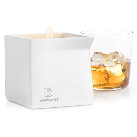 Jimmyjane Afterglow Natural Massage Candle - Bourbon