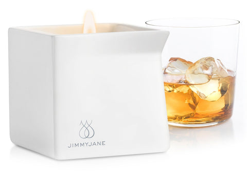 Jimmyjane Afterglow Natural Massage Candle - Dark Vanilla