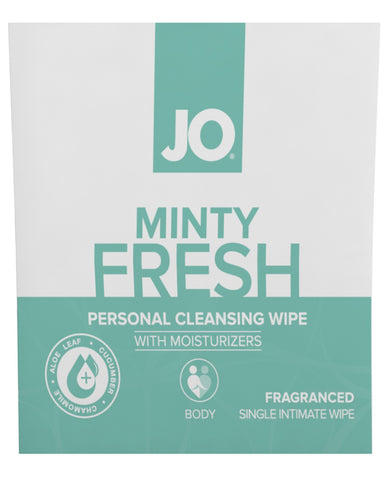JO Personal Cleansing Wipe - Minty Fresh