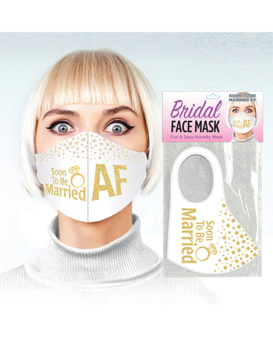 Soon to be Married AF Face Mask - White