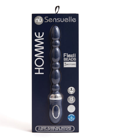 Nu Sensuelle Homme Flexii Beads - Navy Blue