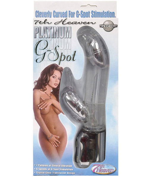 7th Heaven Platinum G Spot - Clear, Vibrators,- www.gspotzone.com