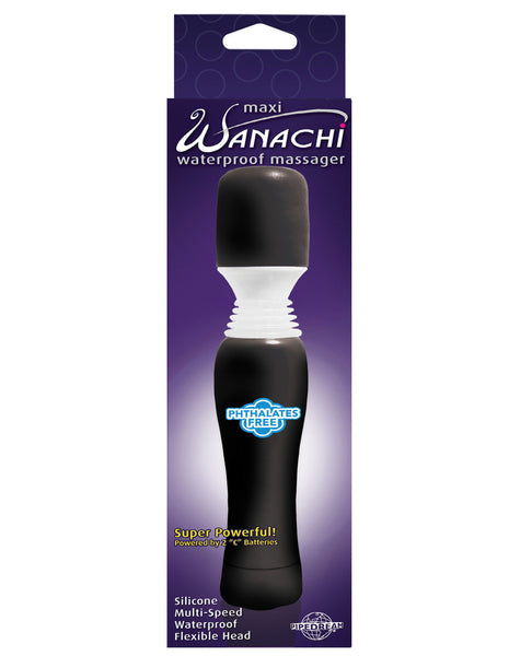 Maxi Wanachi Waterproof Massager - Black