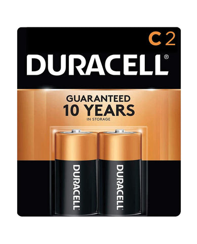 Duracell Alkaline Batteries - C Pack of 2