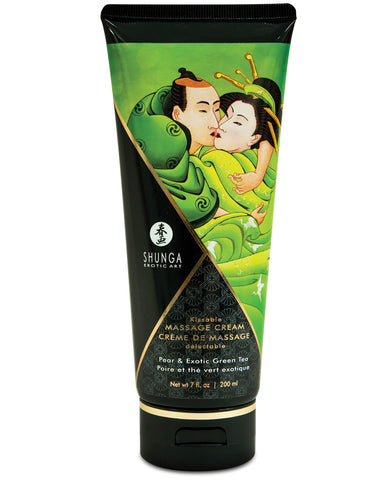 Shunga Kissable Massage Cream - 7 oz Pear & Exotic Green Tea