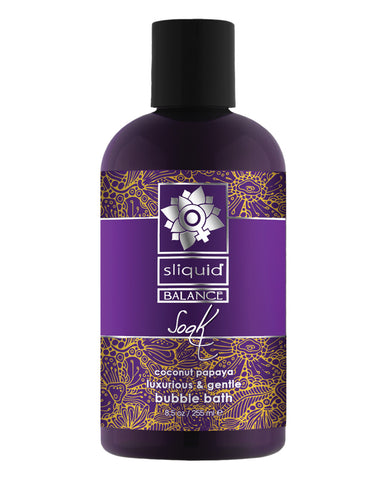 Sliquid Balance Soak - 8.5 oz Coconut Papaya