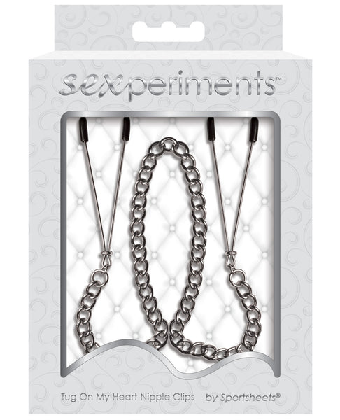 Sportsheets Sexperiments Tug On My Heart Nipple Clamps