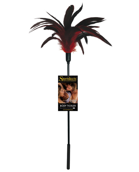 Body Tickler Starburst Feather - Red