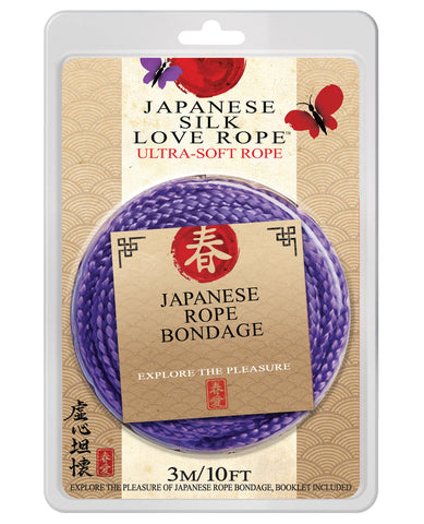 "Japanese Silk Love Rope - 10"" Purple"