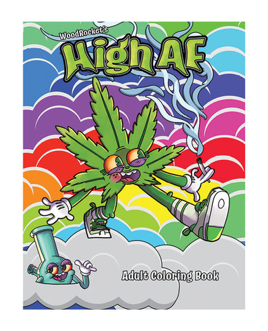 Wood Rocket High AF Coloring Book