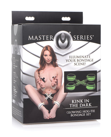 Master Series Kink in the Dark Glowing Hog Tie Bondage Set