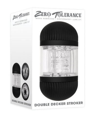 Zero Tolerance Double Decker Stroker - Black/Clear