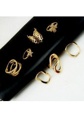 Gold Variety Ring Set - Miss Red Carpet