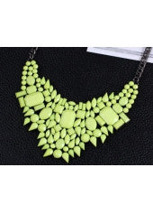Green Fluorescent Necklace - Miss Red Carpet