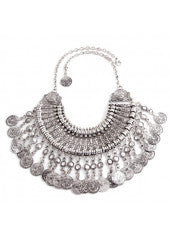 Gypsy Coin Tassle Necklace - Miss Red Carpet