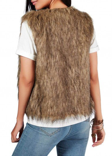 Faux Fur Vest - Miss Red Carpet