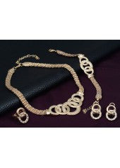 Decorated Gold Hoop Jewelry Set - Miss Red Carpet