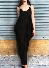 Double Pocket Maxi Dress - Miss Red Carpet