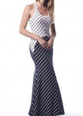 Striped Maxi Dress - Miss Red Carpet
