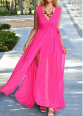 Flowy Chiffon Maxi Dress - Miss Red Carpet