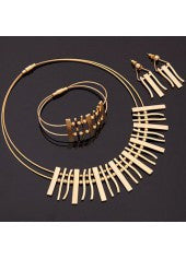 Gold Plate Jewelry Set - Miss Red Carpet