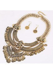 Metal Coin Jewelry Set - Miss Red Carpet