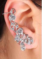 Crystal Flower Ear Clip - 1pc - Miss Red Carpet