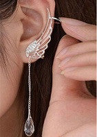 Crystal Wing Ear Clip - 1pc - Miss Red Carpet