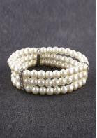 Three Layered Pearl Bracelet - Miss Red Carpet
