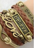 Leather MultiLayer Charm Bracelet - Miss Red Carpet