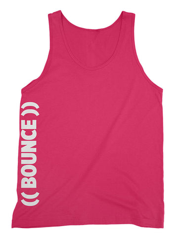 ((BOUNCE)) Sports Vest | Side Print Pink / White