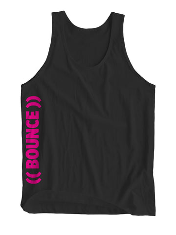 ((BOUNCE)) Sports Vest | Side Print Black / Pink