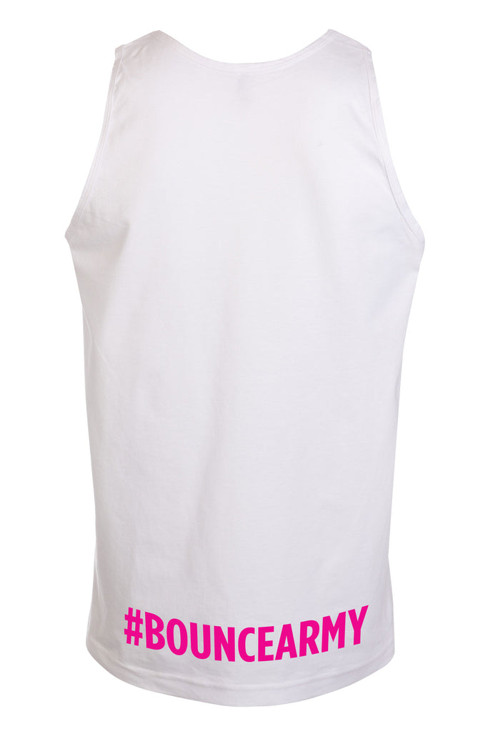 ((BOUNCE)) Sports Vest | Side Print White