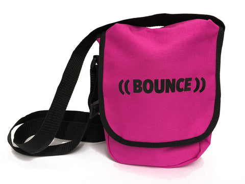 ((BOUNCE)) Small Satchel Bag | Pink/ Black