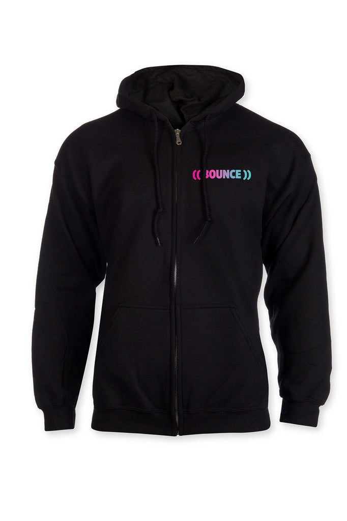 Kids  ((BOUNCE)) Zip Hoodie | Black / Rainbow