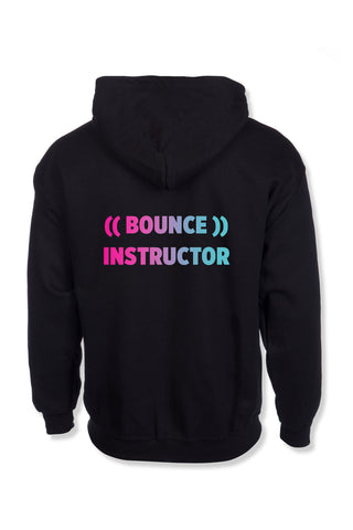 ((BOUNCE)) INSTRUCTOR Zip Hoodie | Black / Rainbow