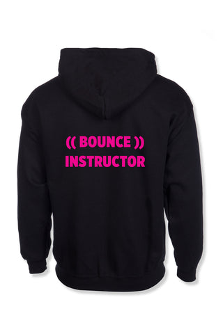 ((BOUNCE)) INSTRUCTOR Zip Hoodie | Black / Pink