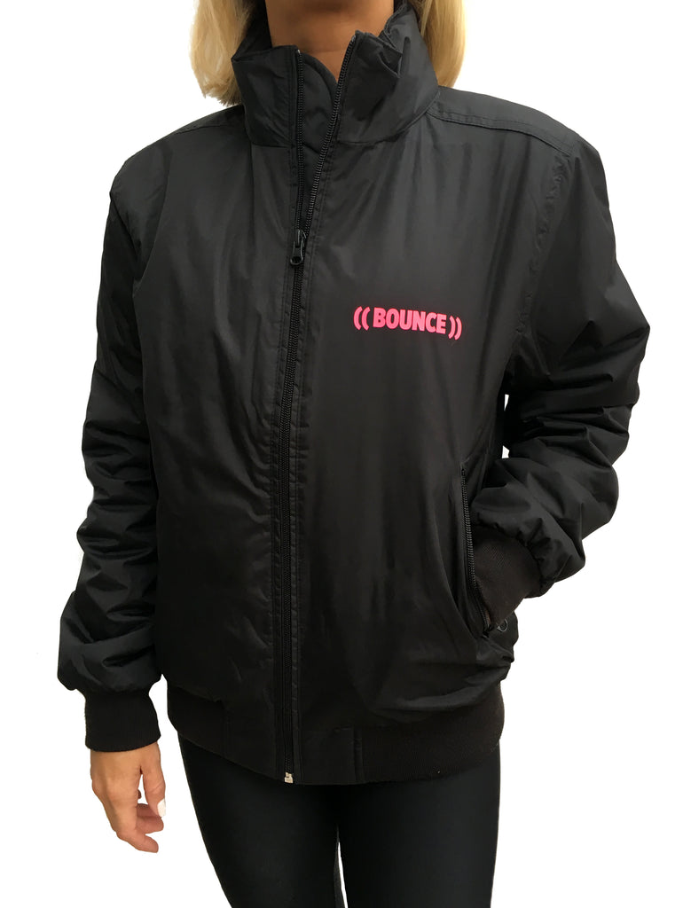 Ladies ((BOUNCE)) Bomber Jacket | Black/ Pink