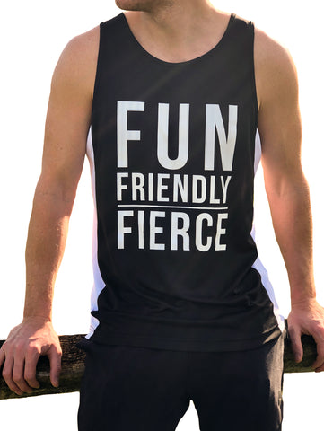 *NEW* ((BOUNCE)) Men's Slogan vest | Black / White