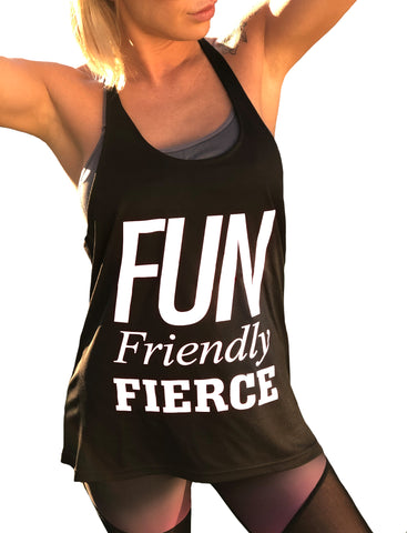 *NEW* ((BOUNCE)) Slogan Loose Sports Vest | Black / White